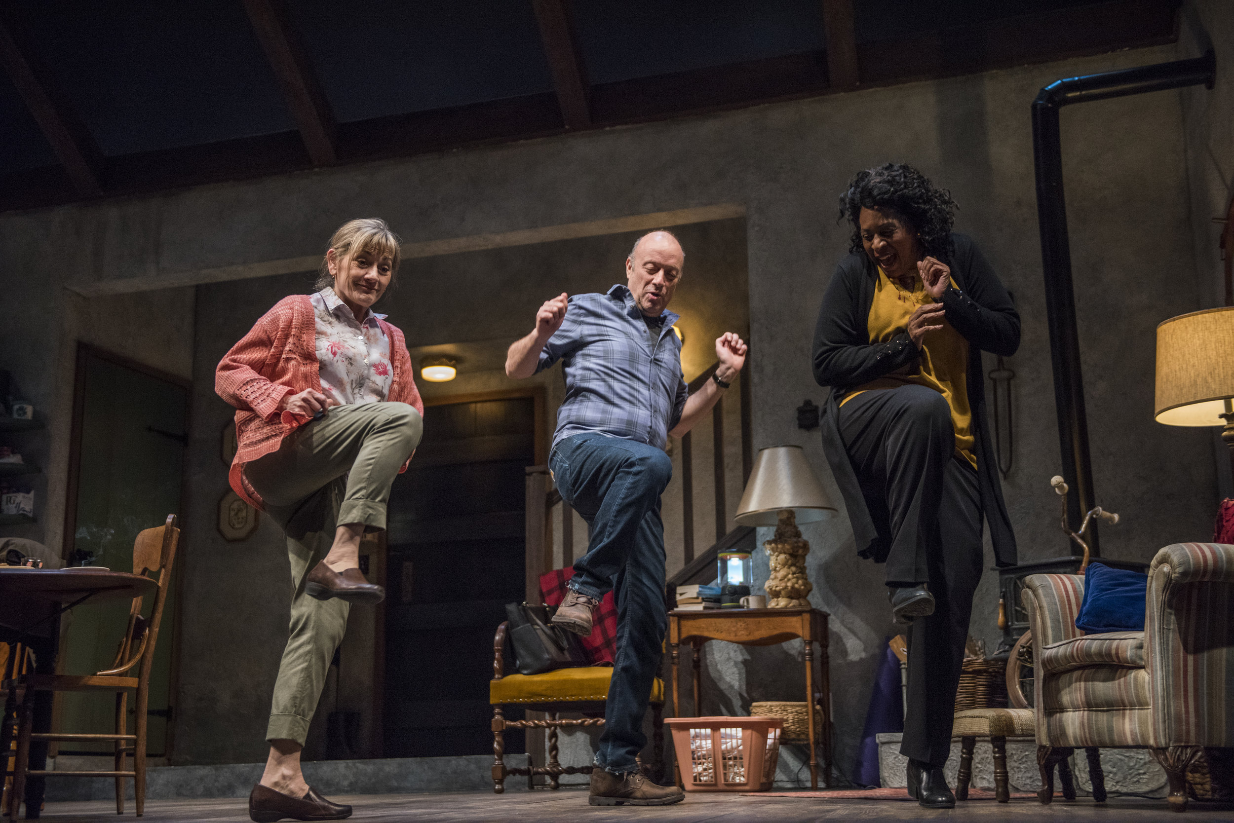 Pictured (L to R): Janet Ulrich Brooks, Yasen Peyankov & Ora Jones in Steppenwolf's Chicago premiere production of  THE CHILDREN . Photo credit Michael Brosilow.