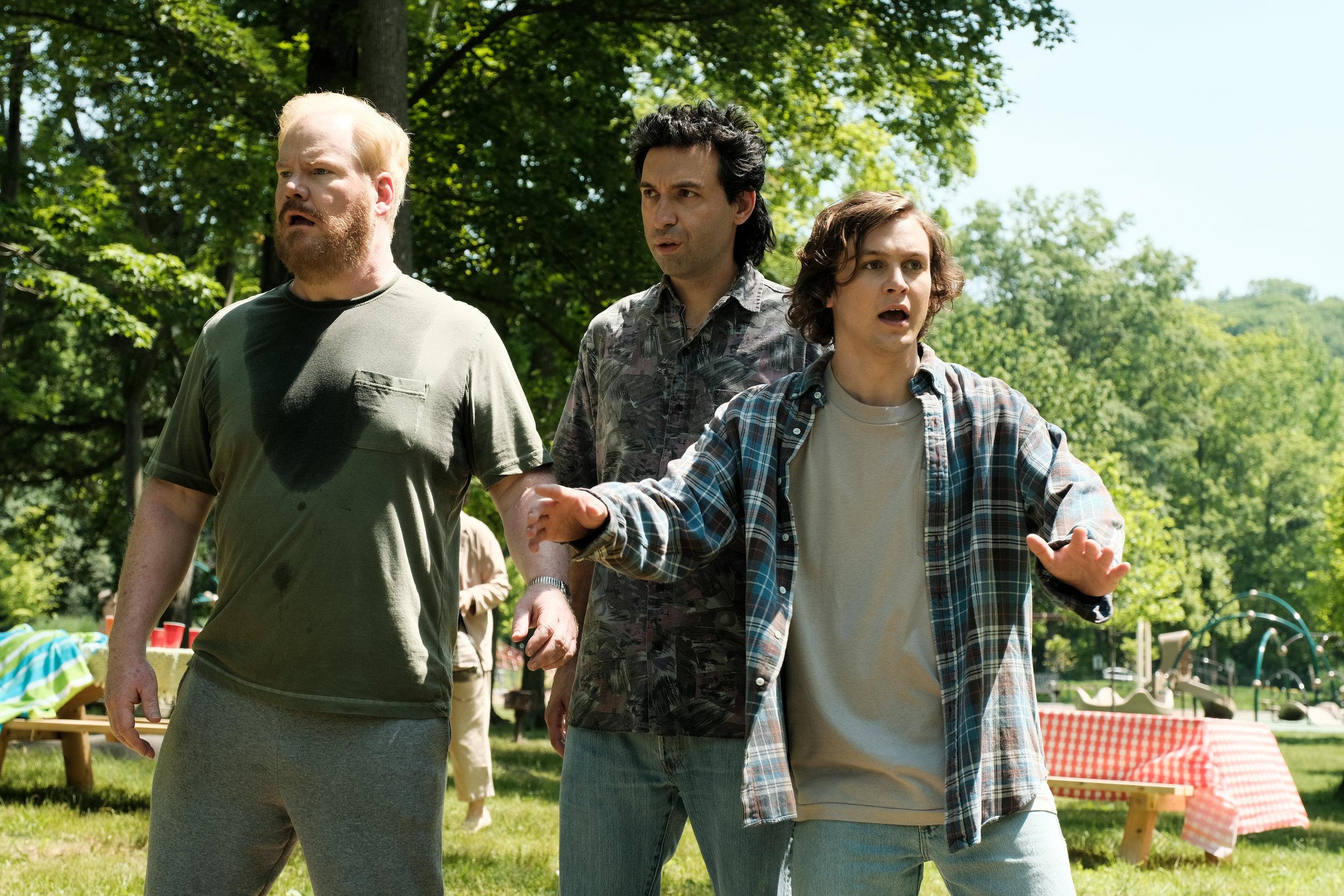 Jim Gaffigan, Alex Karpovsky and Logan Miller in BEING FRANK.