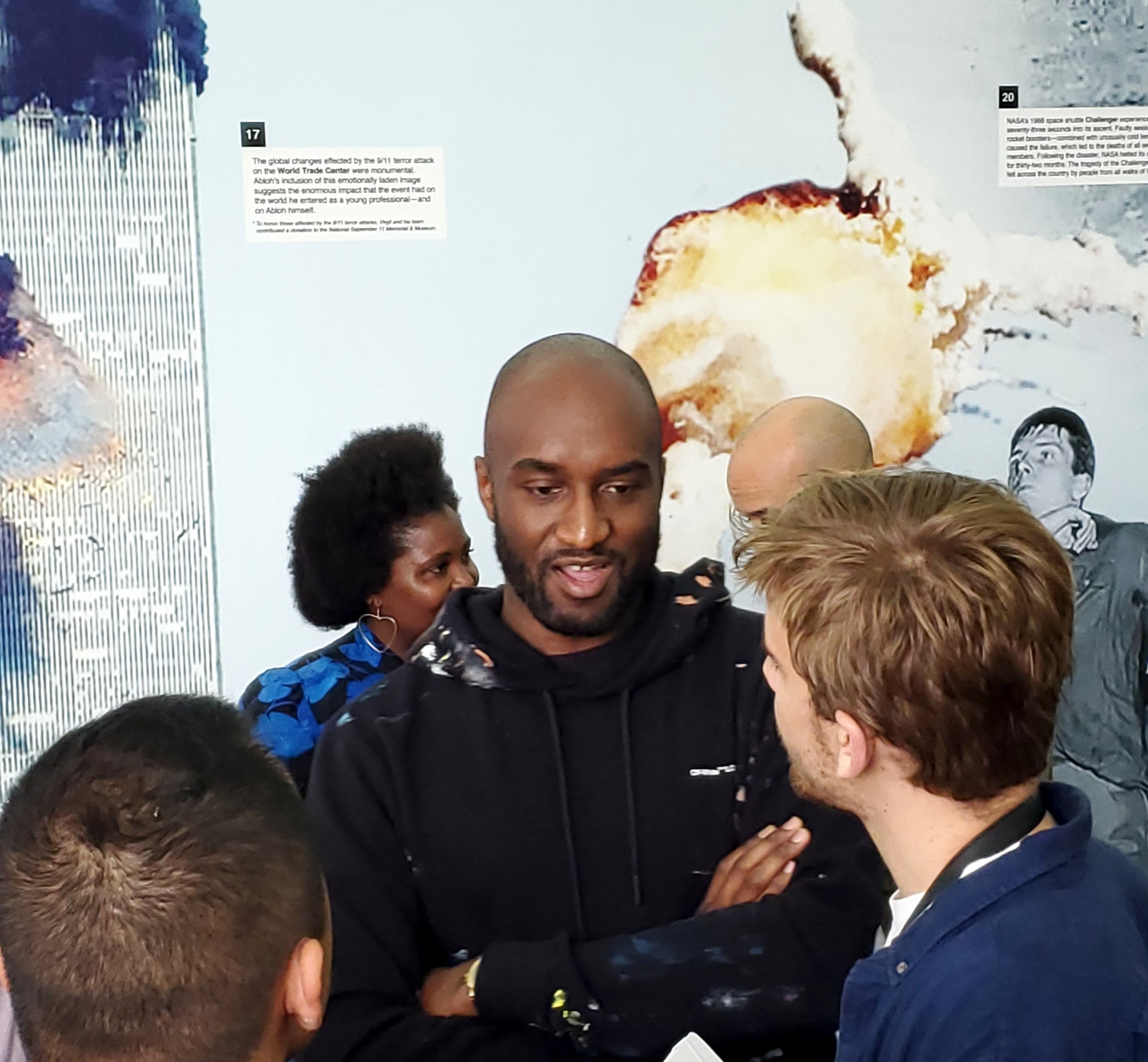 Virgil Abloh surrounded by fans