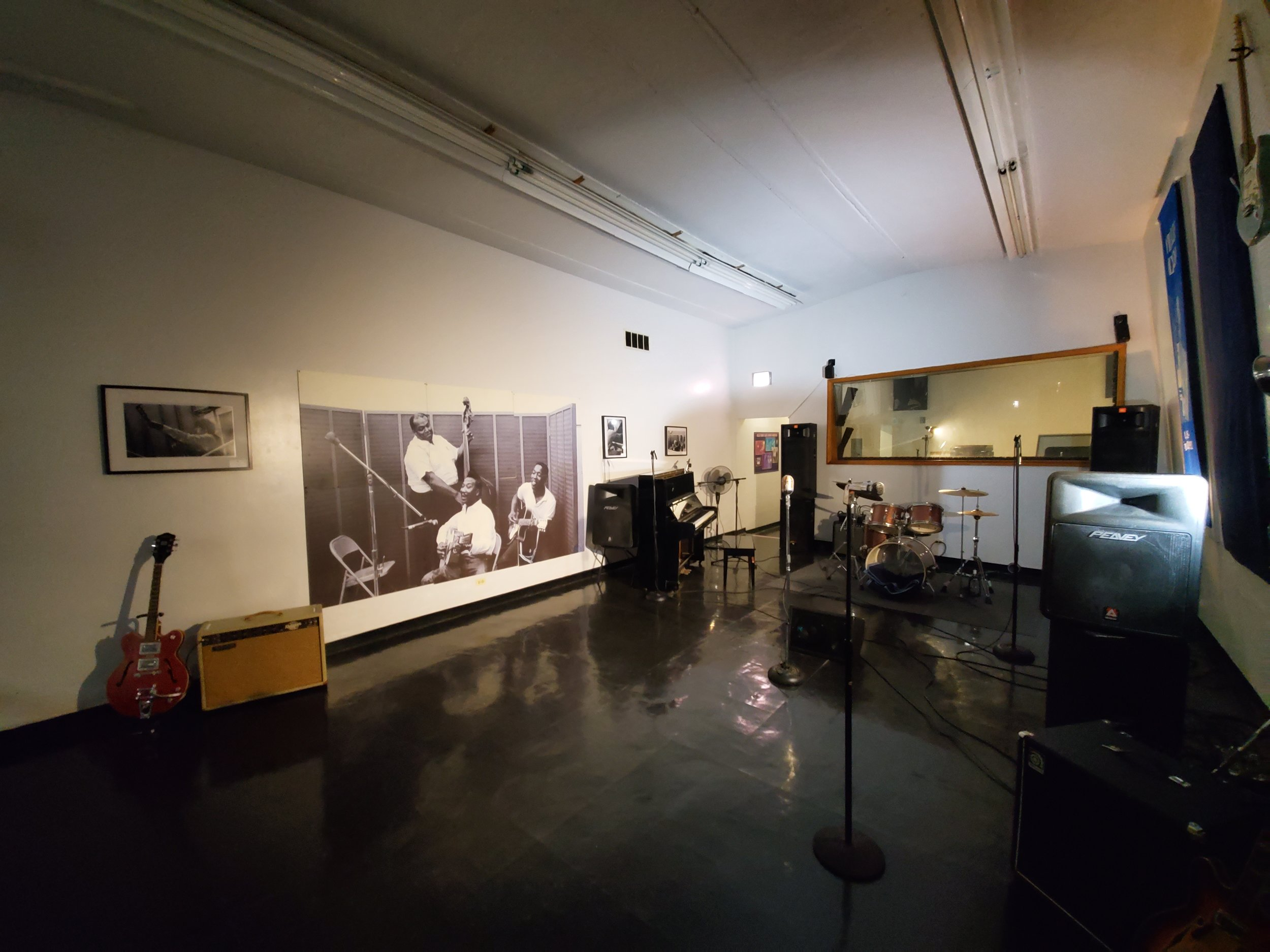 A look at the main recording studio on the second floor of the Chess Records building.