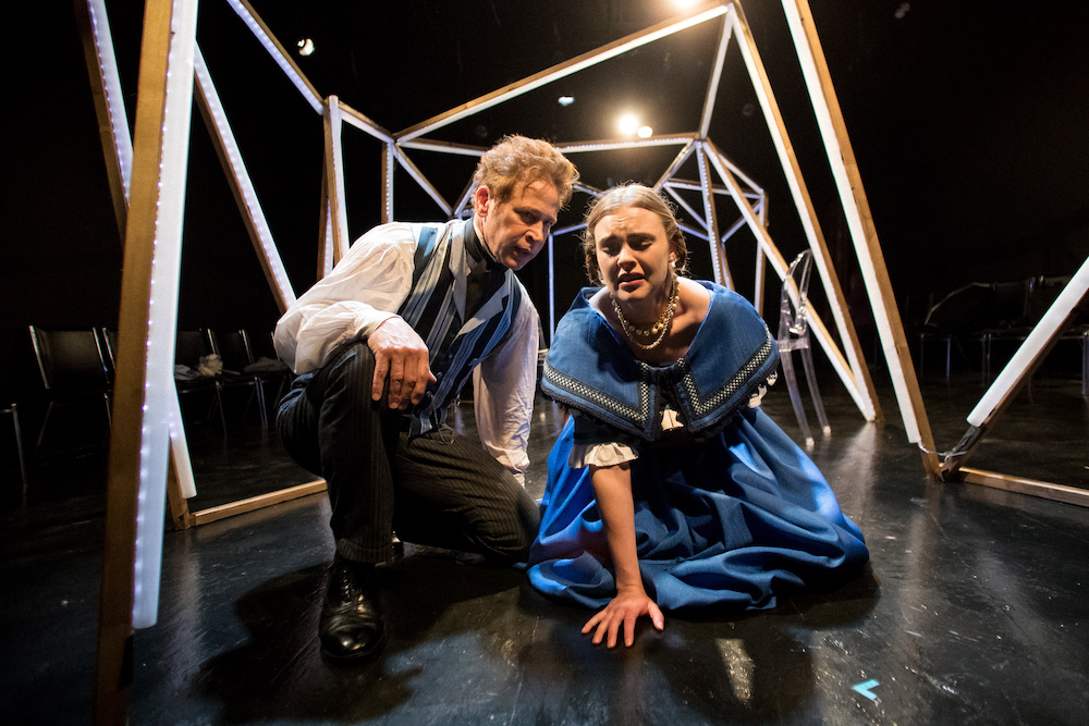 Left to right: John Mossman and Brookelyn Hebert in ADA AND THE ENGINE. Photo credit: Joe Mazza