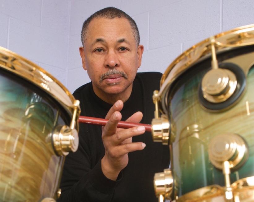 Ralph Johnson on drums