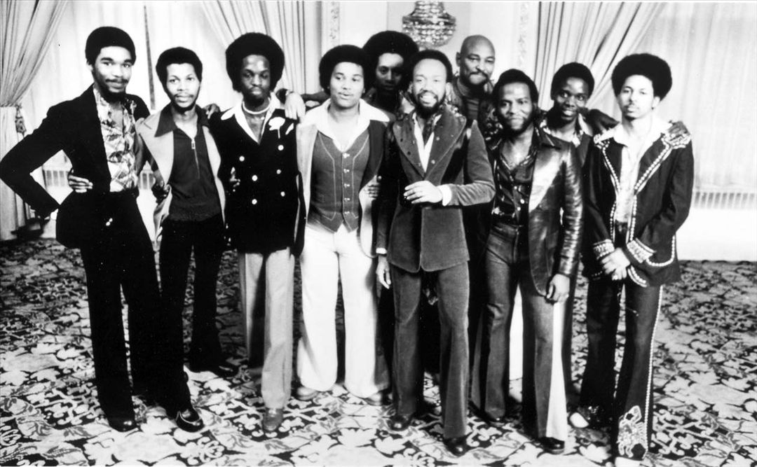 A shot of Earth Wind and Fire from the 1970's