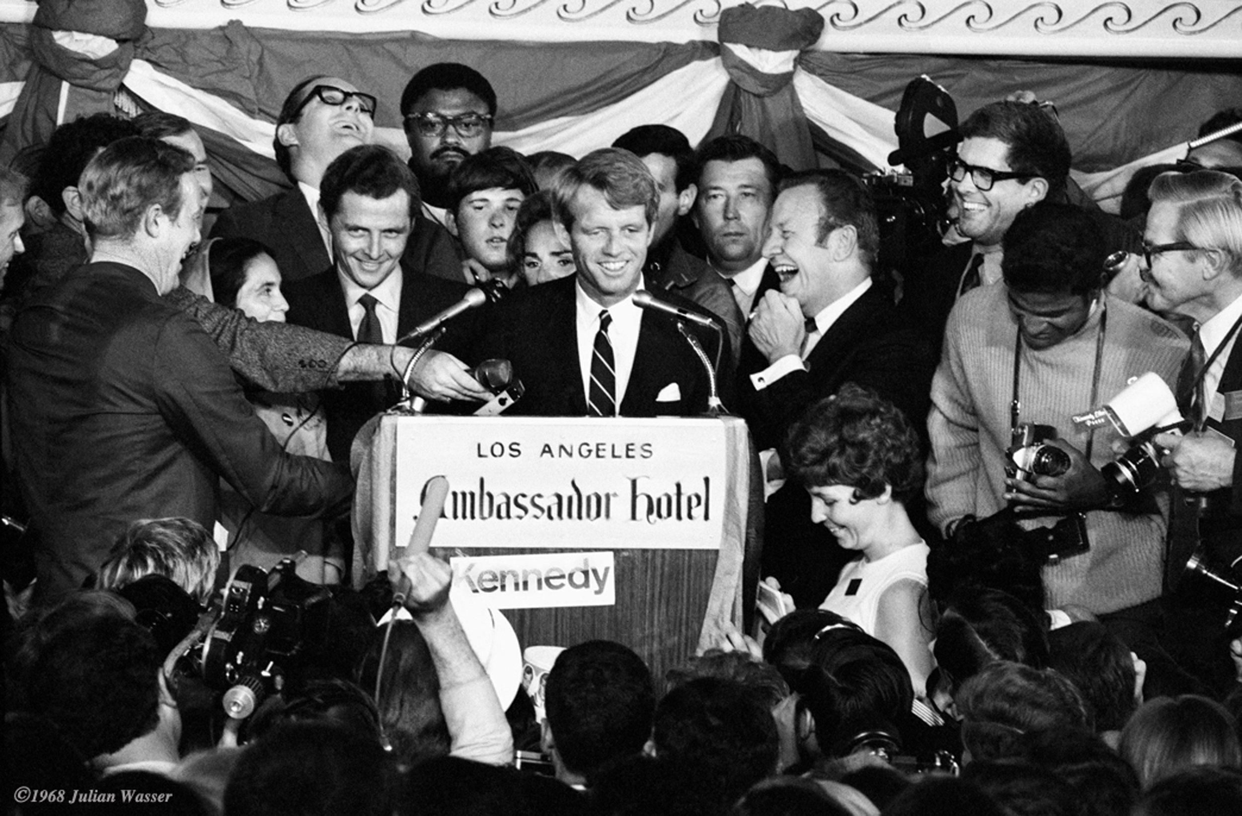 Robert F Kennedy Ambasador Hotel June 1968, photo credit Julian Wasser.jpg