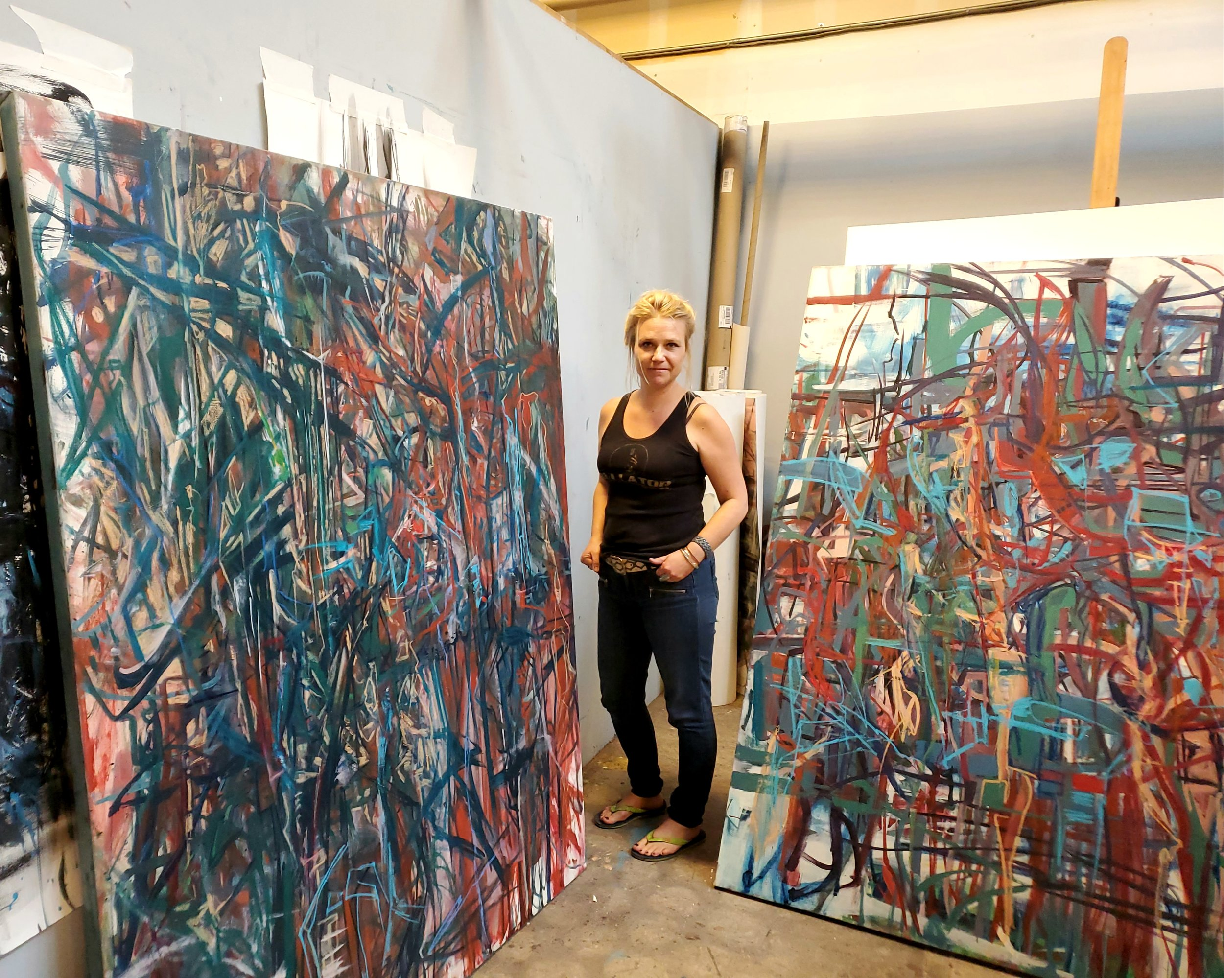 Rebecca Maclachlan is one of the local artists with a studio at Water Street Studios