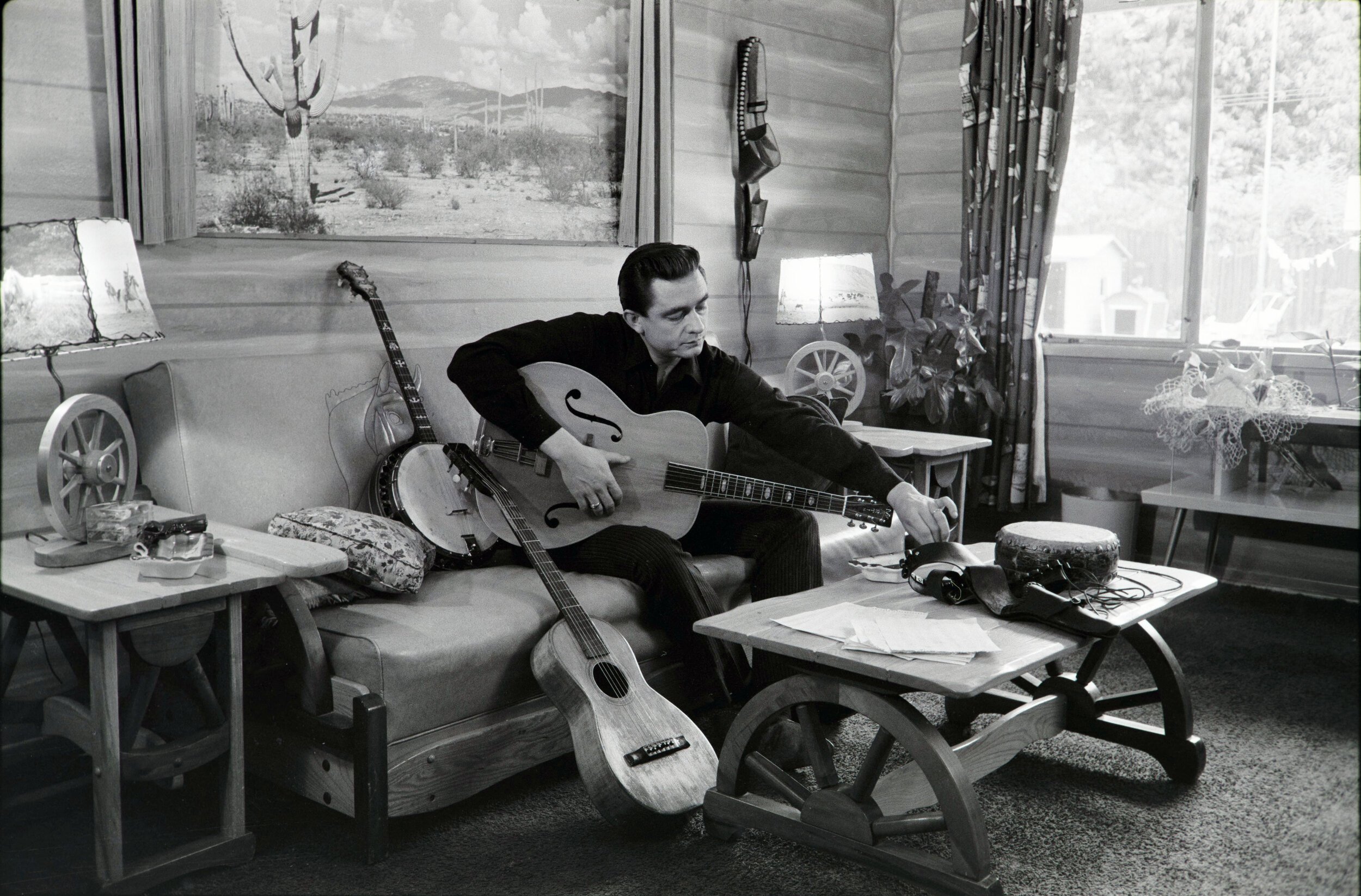 Johnny Cash at his home in California, 1960. Photo credit Sony Music