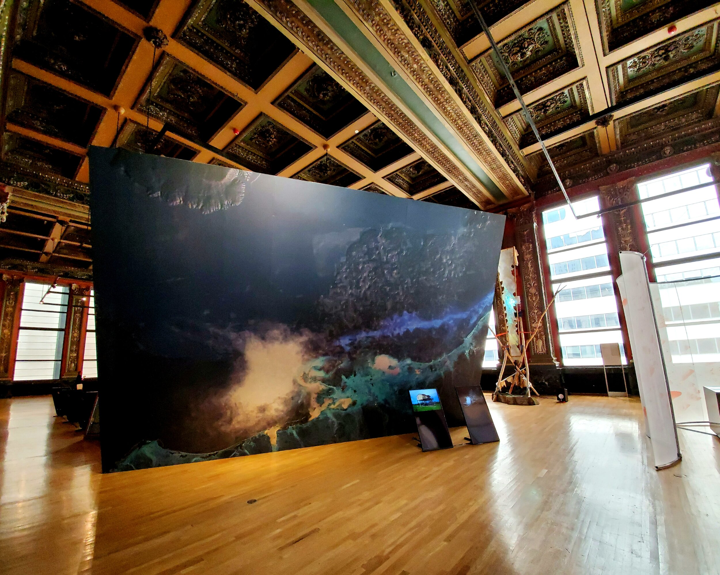 MUSEUM OF OIL: THE AMERICAN ROOMS by Territorial Agency (Ann-Sofi Ronnskog and John Palmesino) at the Chicago Cultural Center.
