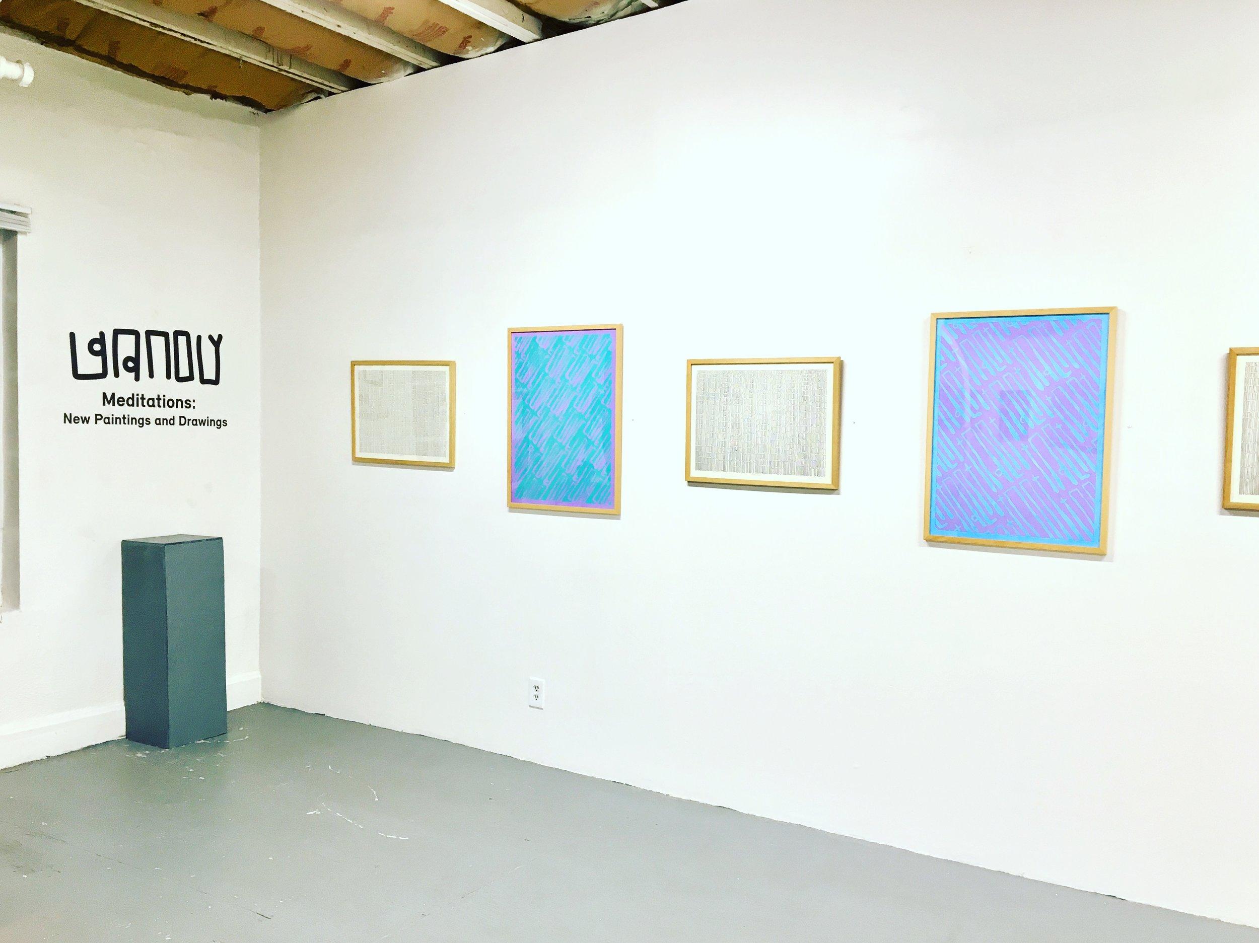 """ Meditations: New Works by Gandy "". M. Romero Gallery. Denver, CO. 2018."