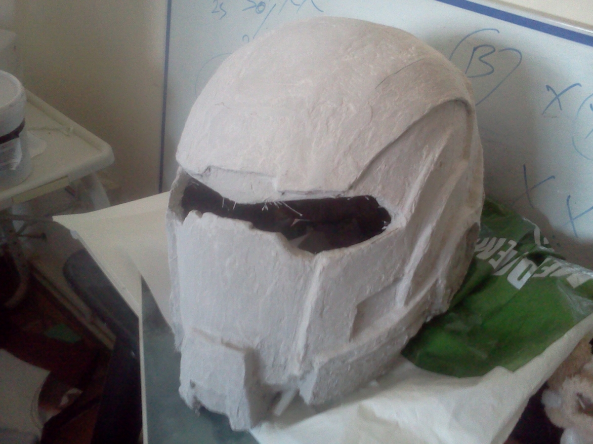 This is after the first layer of putty was applied, before it was sanded. 5 layers later, it still looked bad.