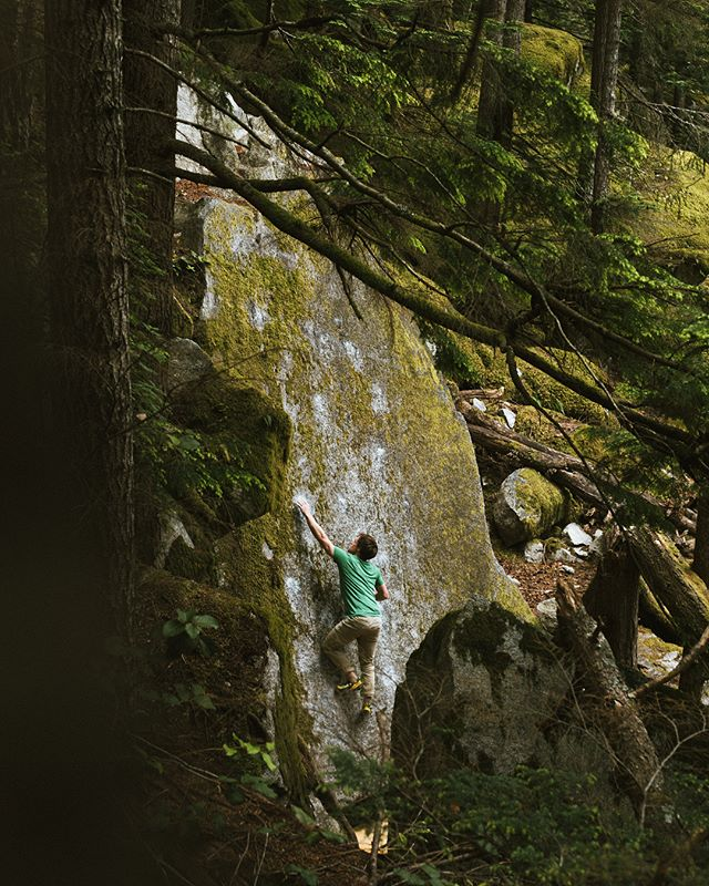Slabs in the forest. #squamish #rockclimbing