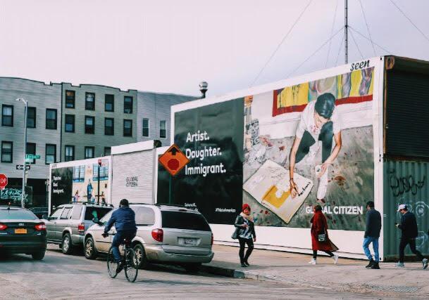 Painted mural in Bushwick, Brooklyn
