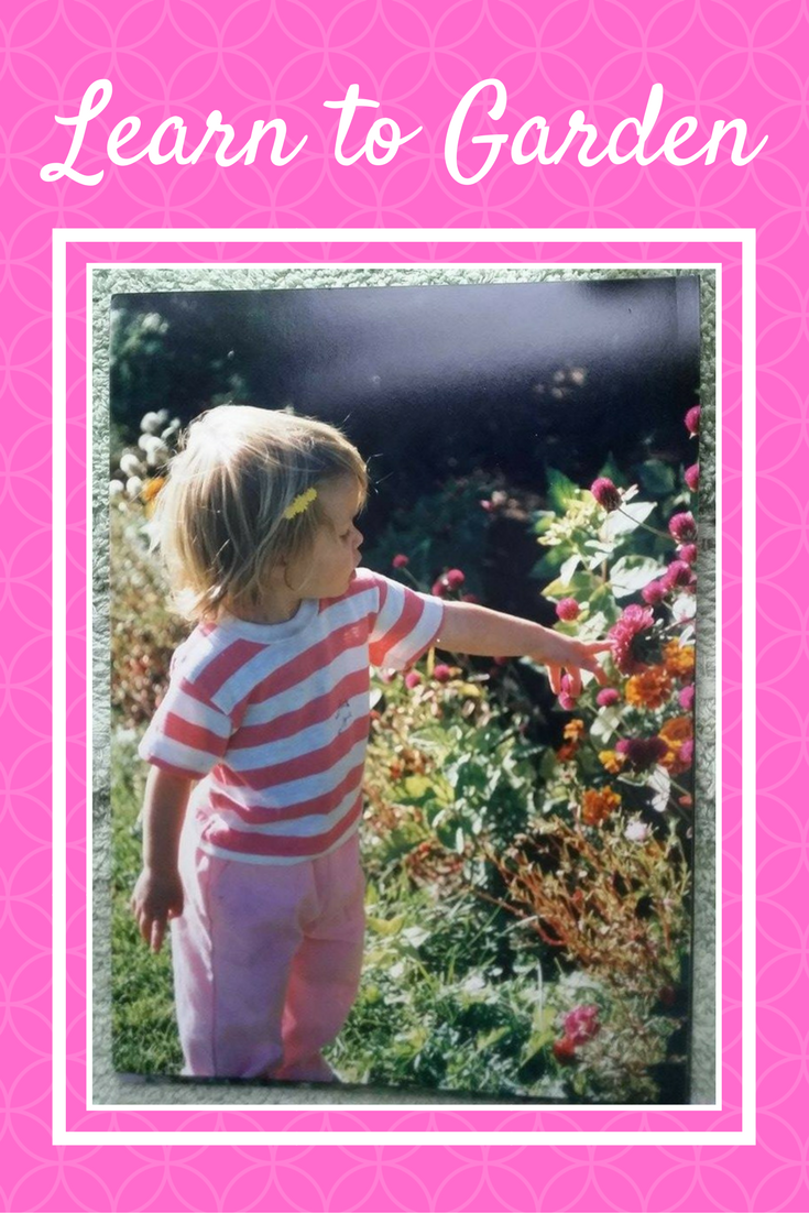 As a toddler I admired the beauty of flowers in my dads garden.