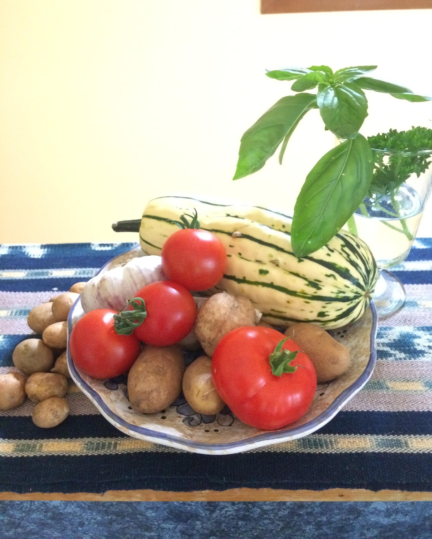 Vegetables fresh from the garden