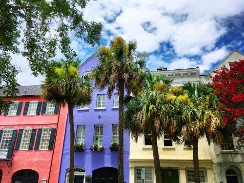 Rainbow Row in Charleston, SC. this past summer