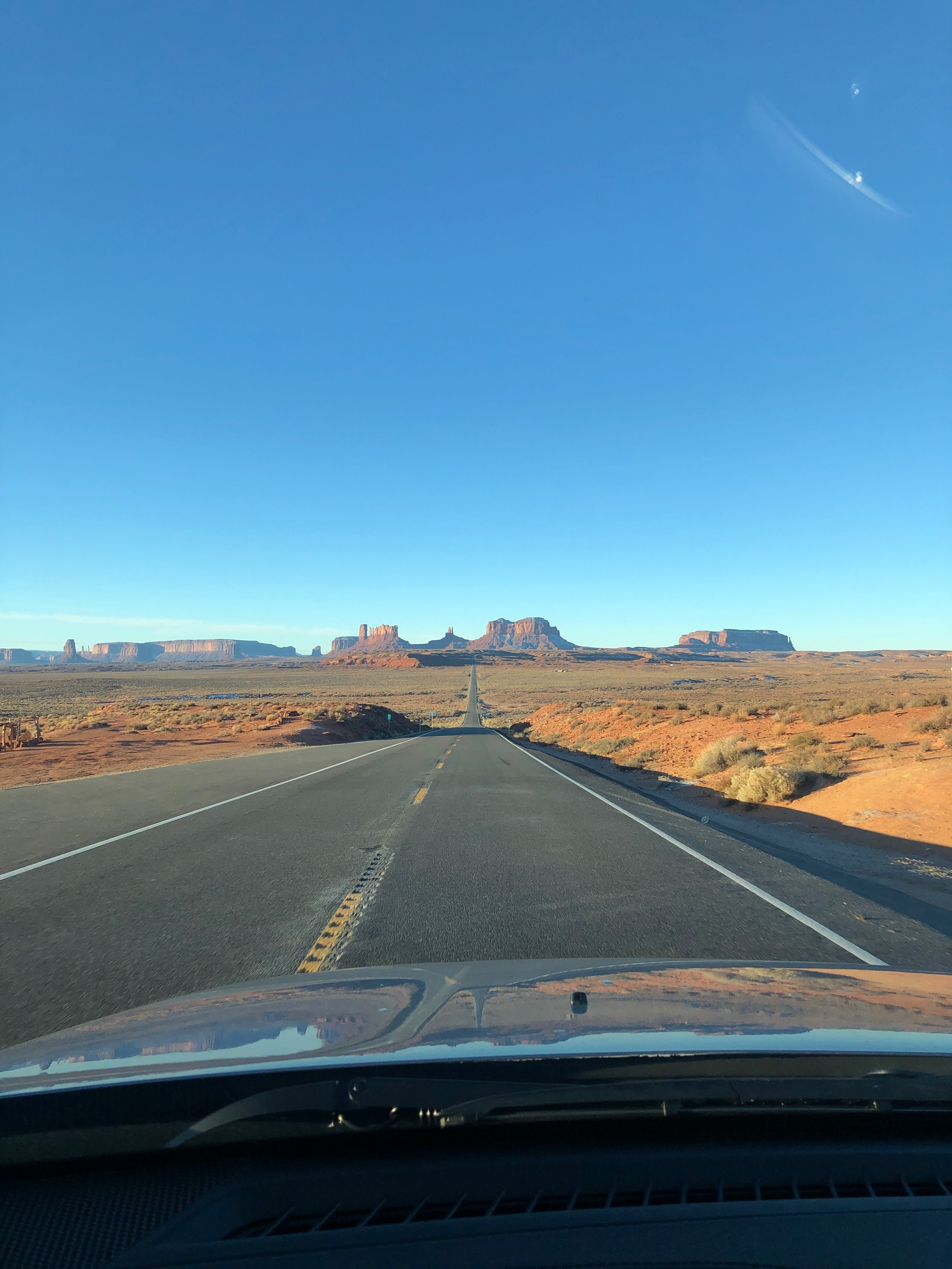 Driving to the UNHS Monument Valley Location, Dec '18.  Photo: Miles Hischier