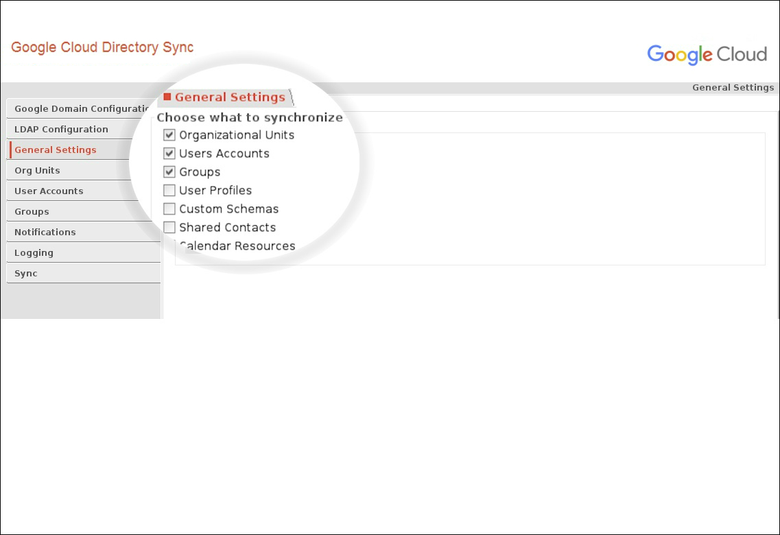 Google Cloud Directory Sync for Active Directory