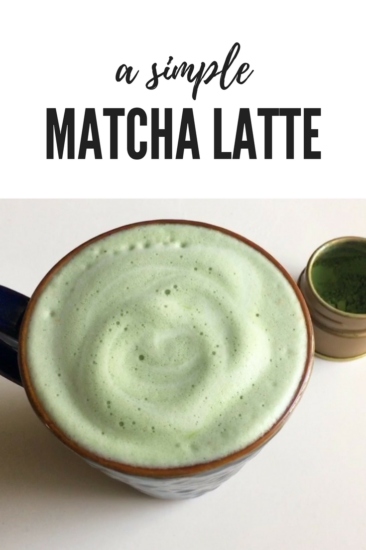 A Simple Matcha Latte