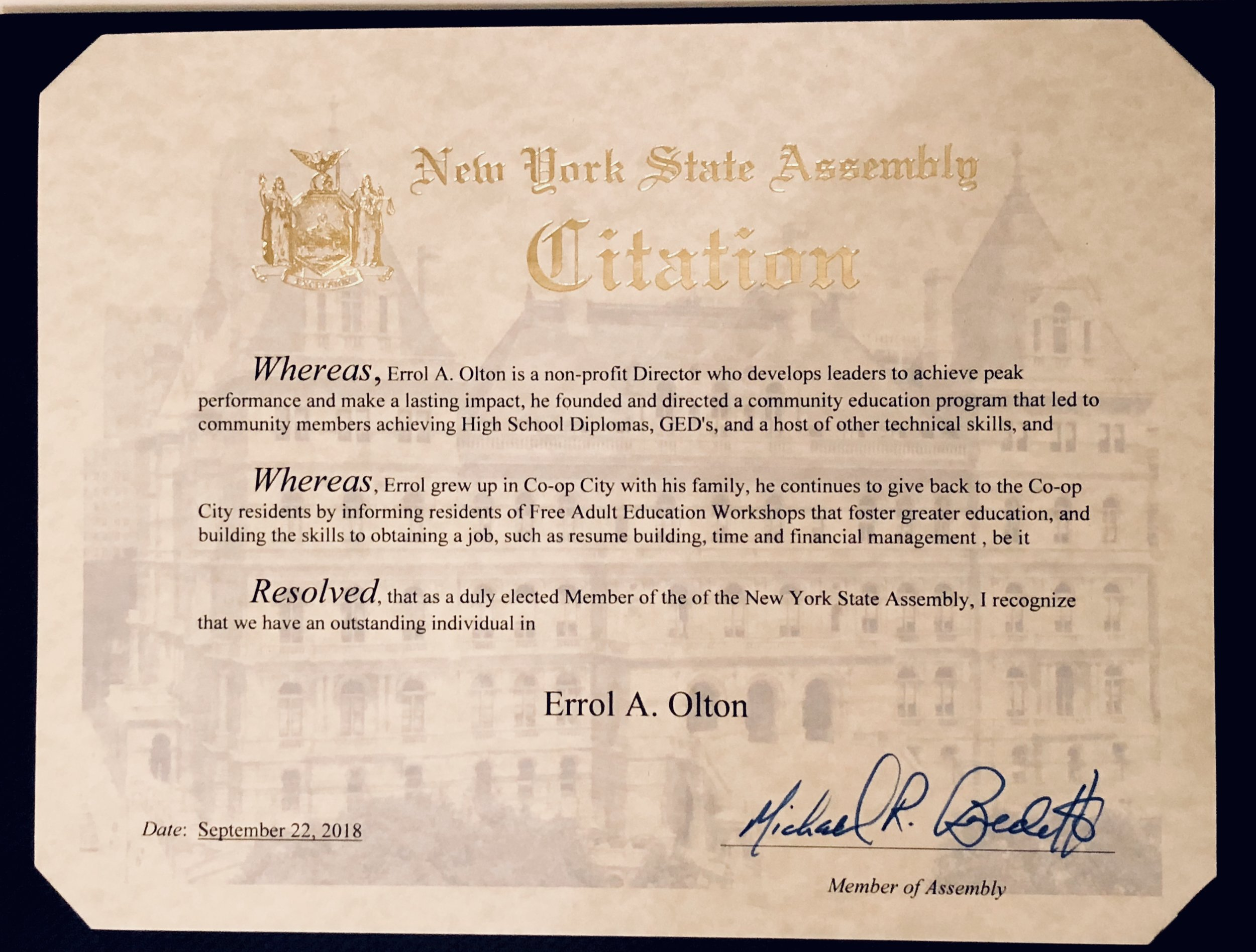 NY Assembly Member Michael Benedetto