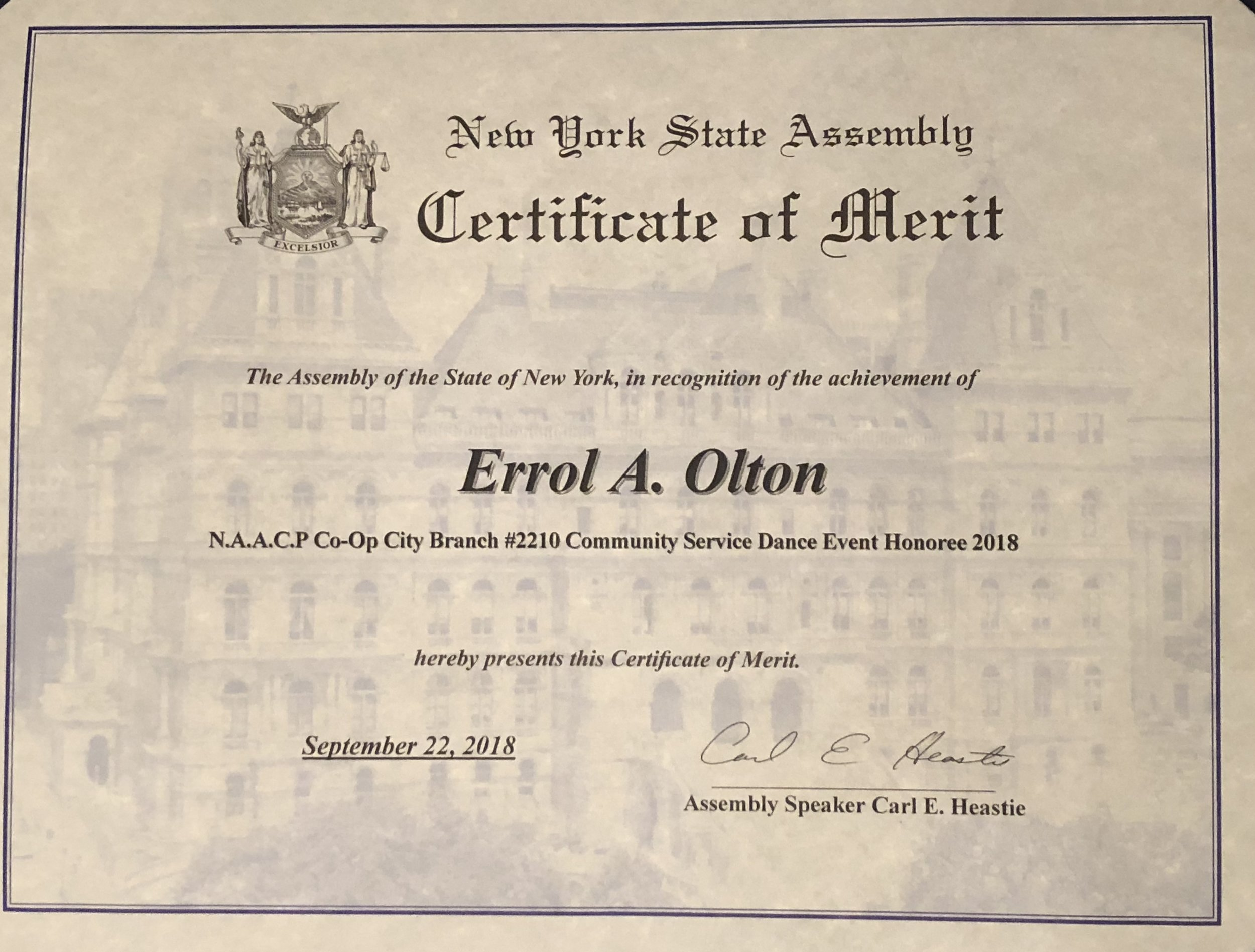 New York State Assembly Speaker Carl Heastie