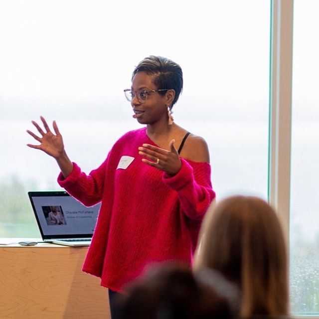 #TBT to May's @womenandcolor Speaker Bootcamp 🎤  At the start of every bootcamp, I begin by sharing the story of why I'm so personally passionate about seeing more diversity on stages. Every single time, I get so worked up because I truly believe that in 2019, there's absolutely no excuse. We know better, so we have to do better.  As we gear up to host our THIRD bootcamp this weekend, I'm once again so excited to welcome a new cohort of students.  What began as a pilot project created by myself and @heymosef has now evolved into a sought-after program - with people flying in from across Canada and the US (!!) to gain the confidence and skills they need to launch a public speaking career.  In less than 1 year, the bootcamp has launched the speaking careers of over 40+ incredible humans. Every single time I see them killing it on a stage or on TV, it makes me so emotional. Our voices have and always will matter. I'll always continue doing the work to make sure of it 👊🏽. {photo by @turquoiseimagery}