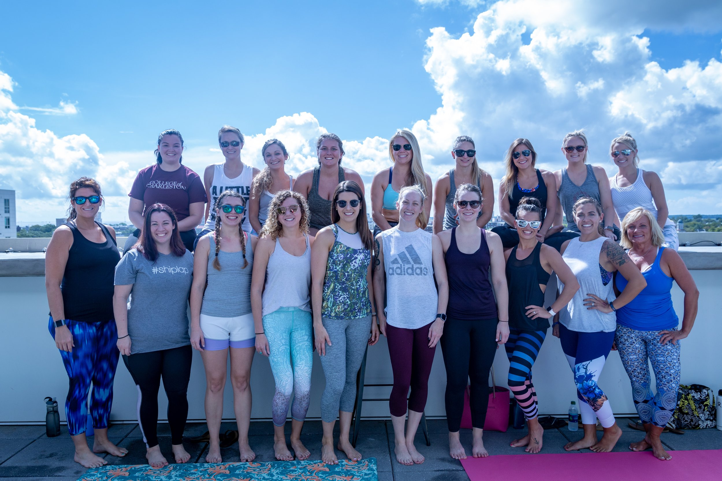 Barre on the Rooftop benefiting the American Foundation for Suicide Prevention at POUR Taproom Charleston, SC