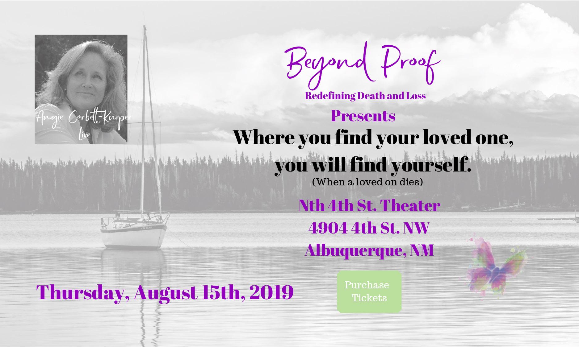 Angie Corbett-Kuiper — Beyond Proof — August 15 event