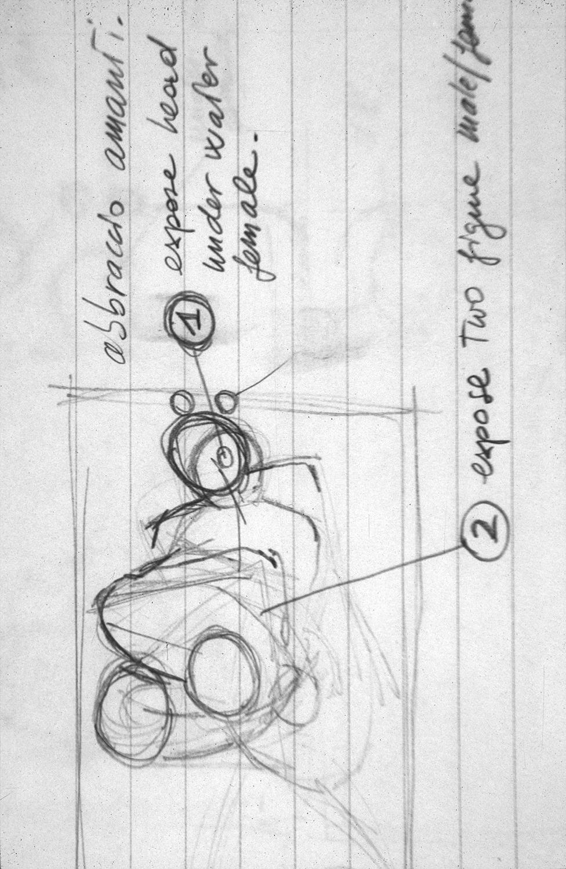 Preliminary sketch for  AJ & Erika #1,  1995