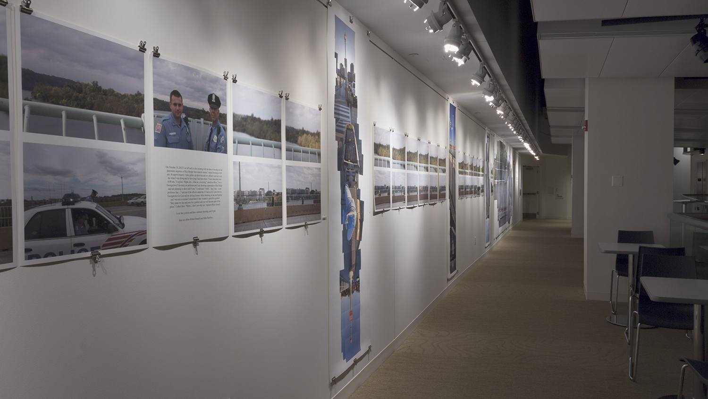 Streams Key Bridge  installed in the Mezz gallery, Artisphere; Arlington, Virginia 2012