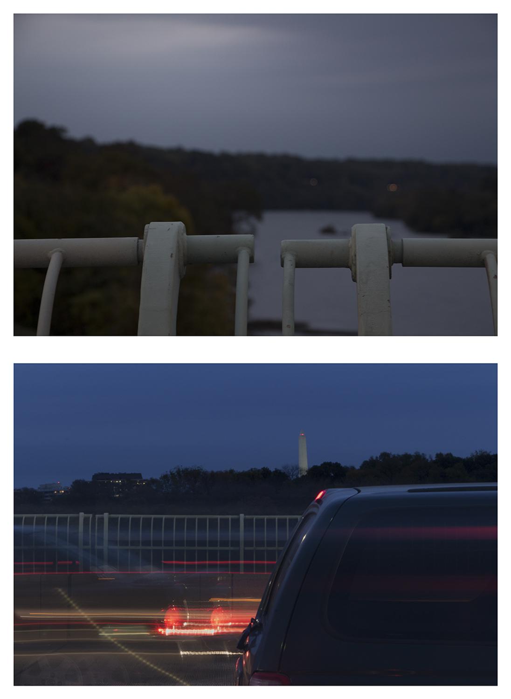 """Upstream - Downstream Potomac River Composites, 26 x 19"""""""
