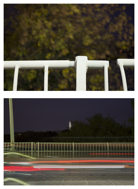 "Streams Key Bridge , Upstream - Downstream Potomac River Composites, 26 x 19"""