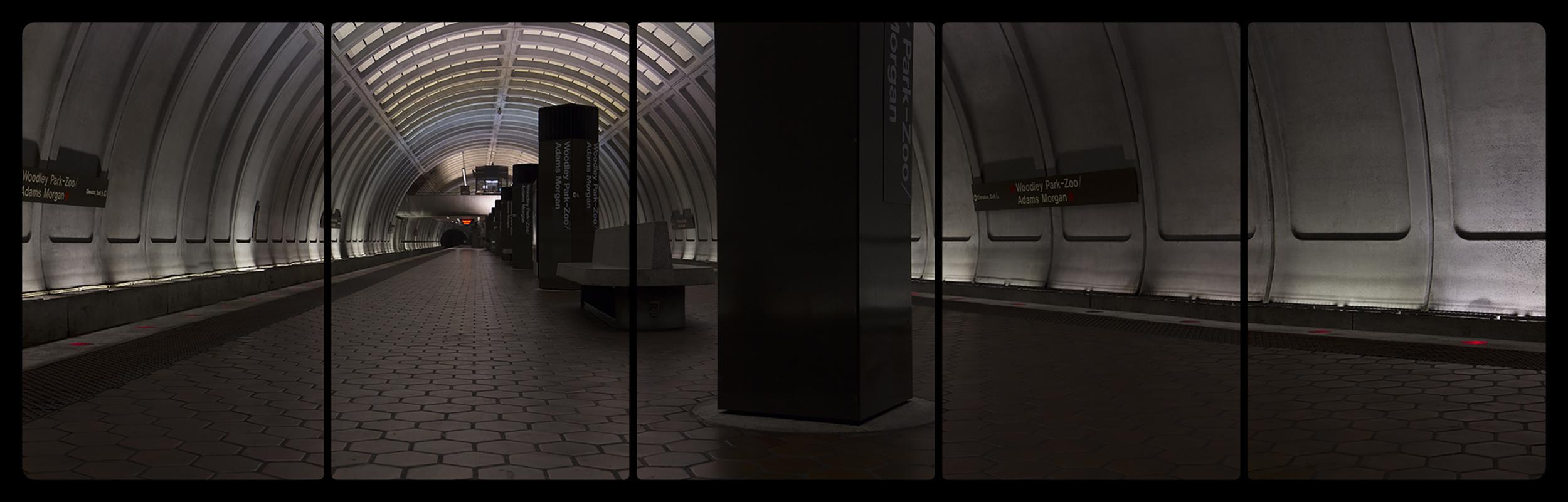 Metro Rail, Woodley Park-Zoo,6-15-2014,2651-2657