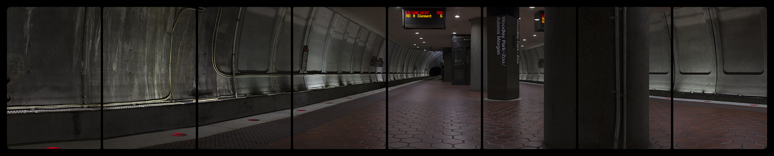 Metro Rail, Woodley Park-Zoo,6-15-2014,2677-2685