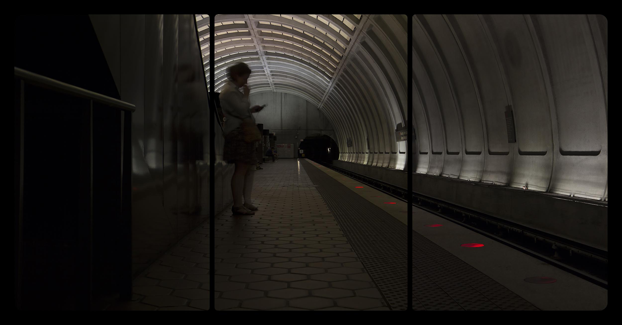 Metro Rail, Woodley Park-Zoo,6-15-2014,2747-2749