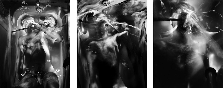 Bath Tubs ,  John Hansen triptych