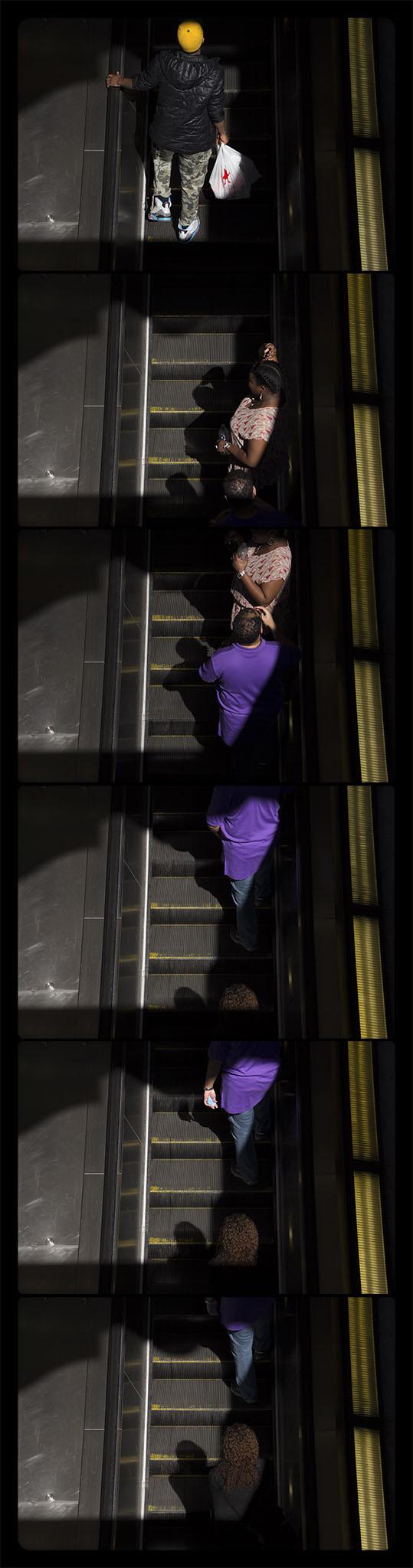 Metro Rail, Gallery Place-Chinatown, 4-21-2012-5896-5901