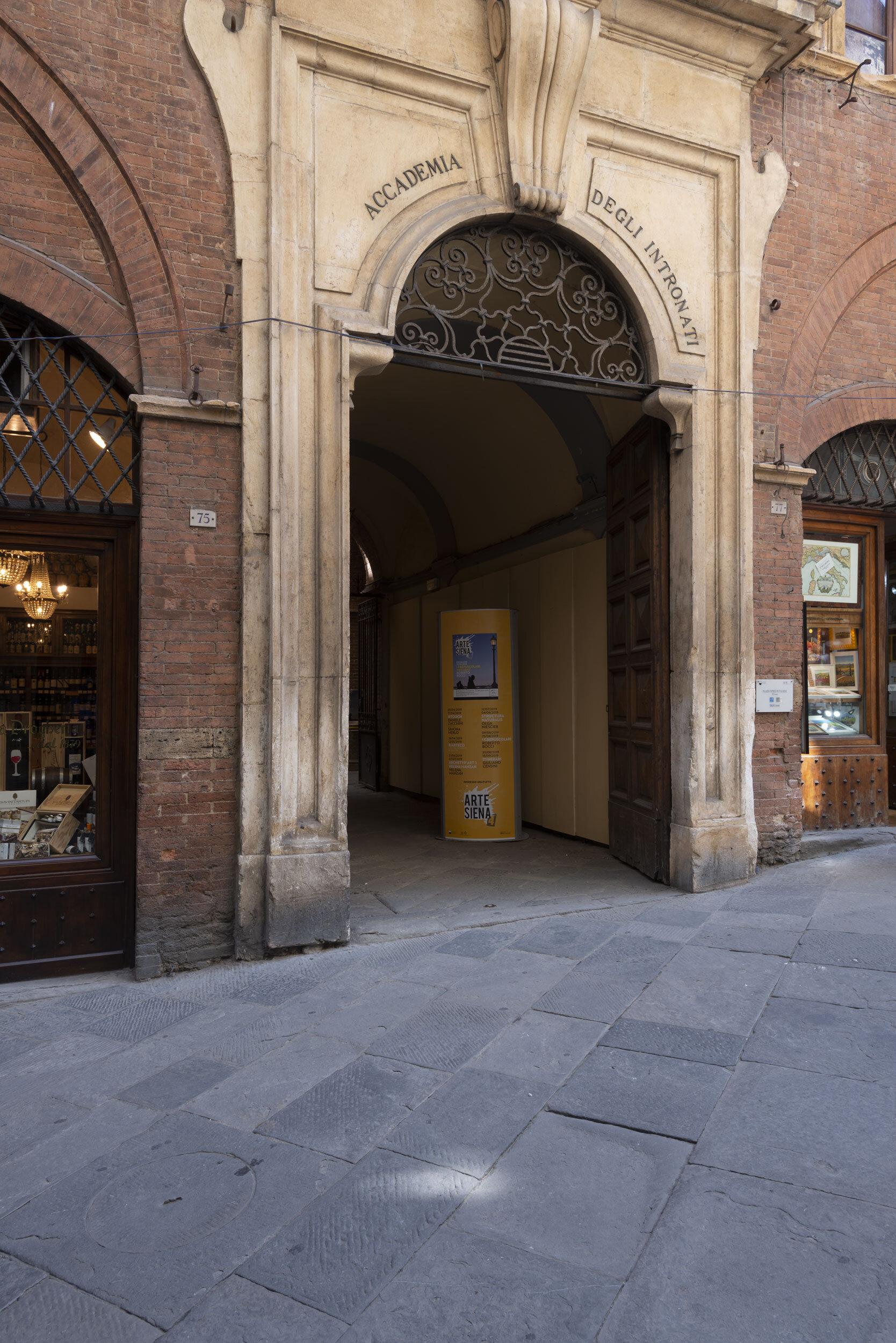 Entrance to the Accademia degli Intronati