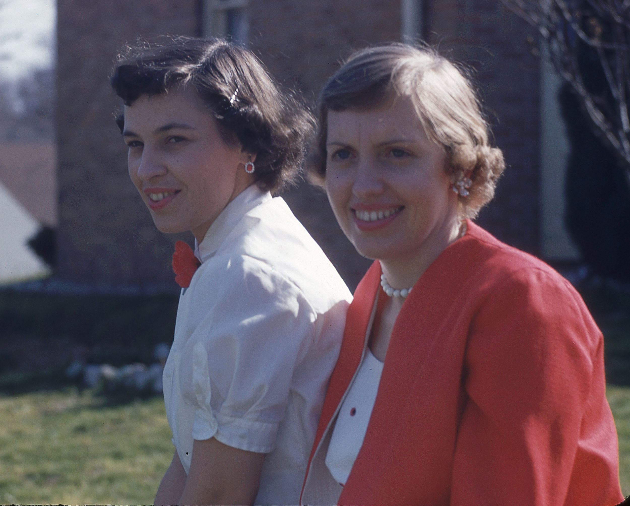 Betty Veit (right) - Betty (nee Hammet) and Harvey were married in the summer of 1952, just before the letters start. Their marital status allowed her to travel with Harvey as he served on various Air Force bases in the country.