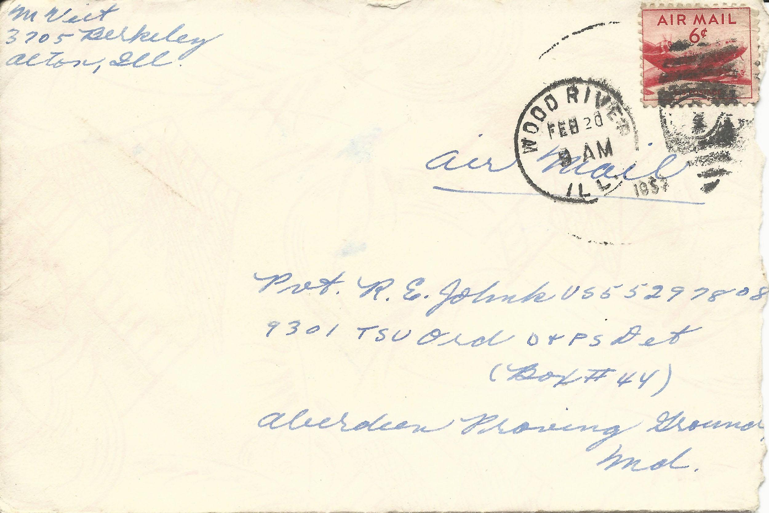 Feb. 19, 1953 (Marj) Envelope