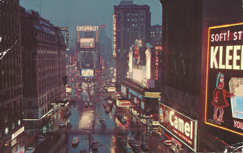 Feb. 23, 1953 (Bob), NYC Postcard Front