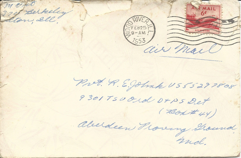 Feb. 24, 1953 (Marj) Envelope