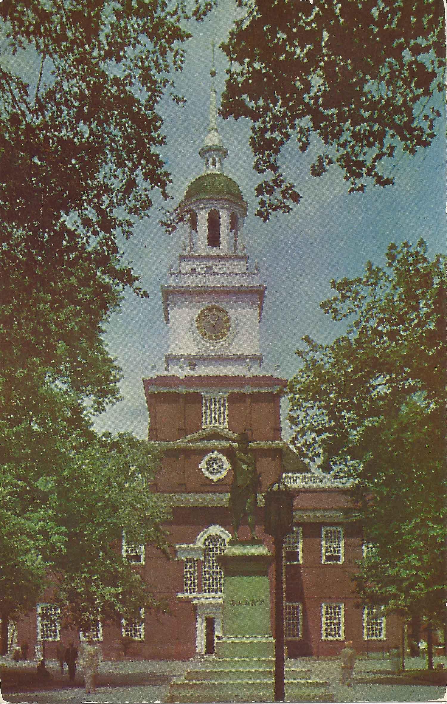 Philadelphia Postcard Front
