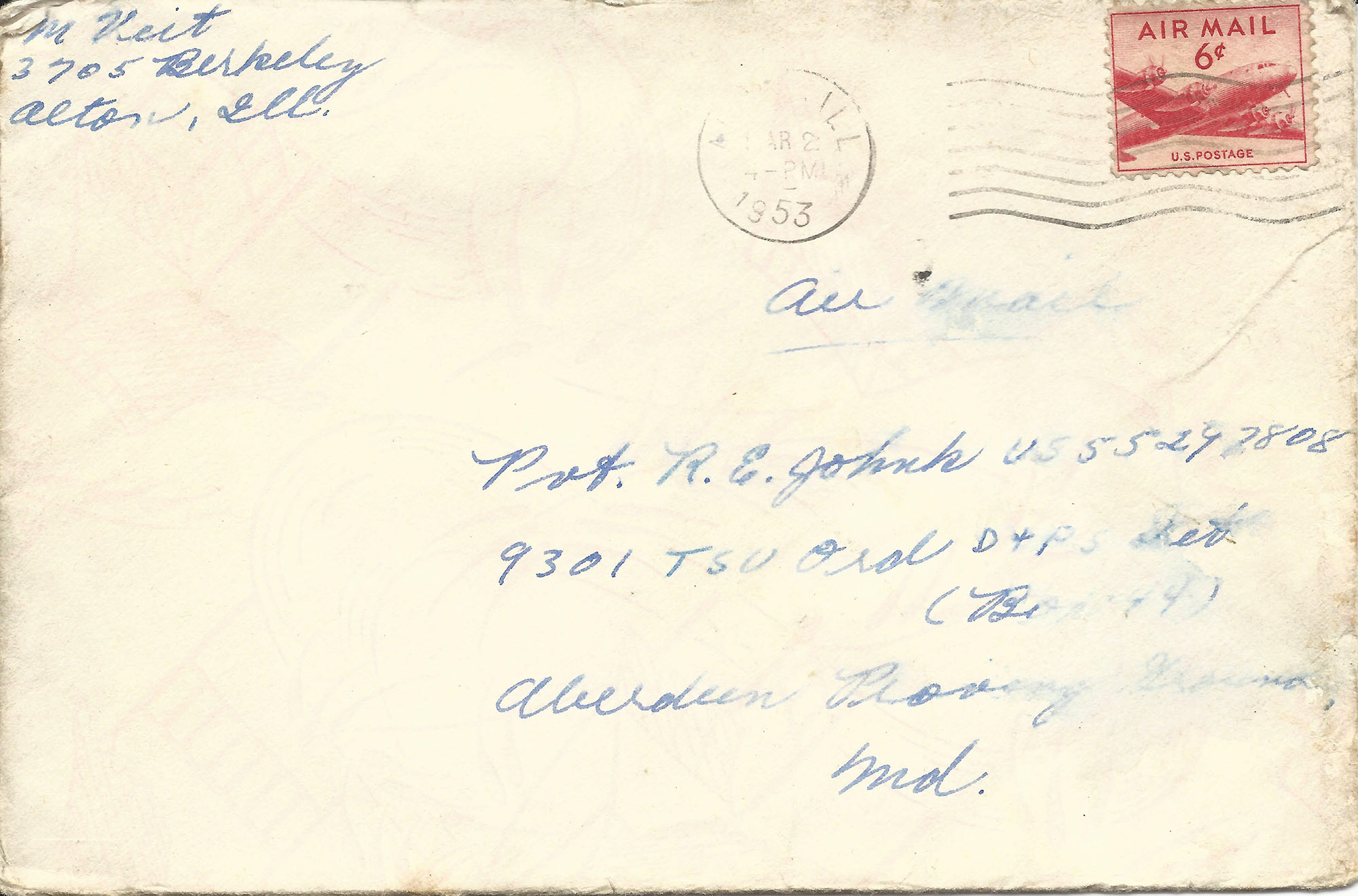 Mar. 1, 1953 (Marj), Envelope