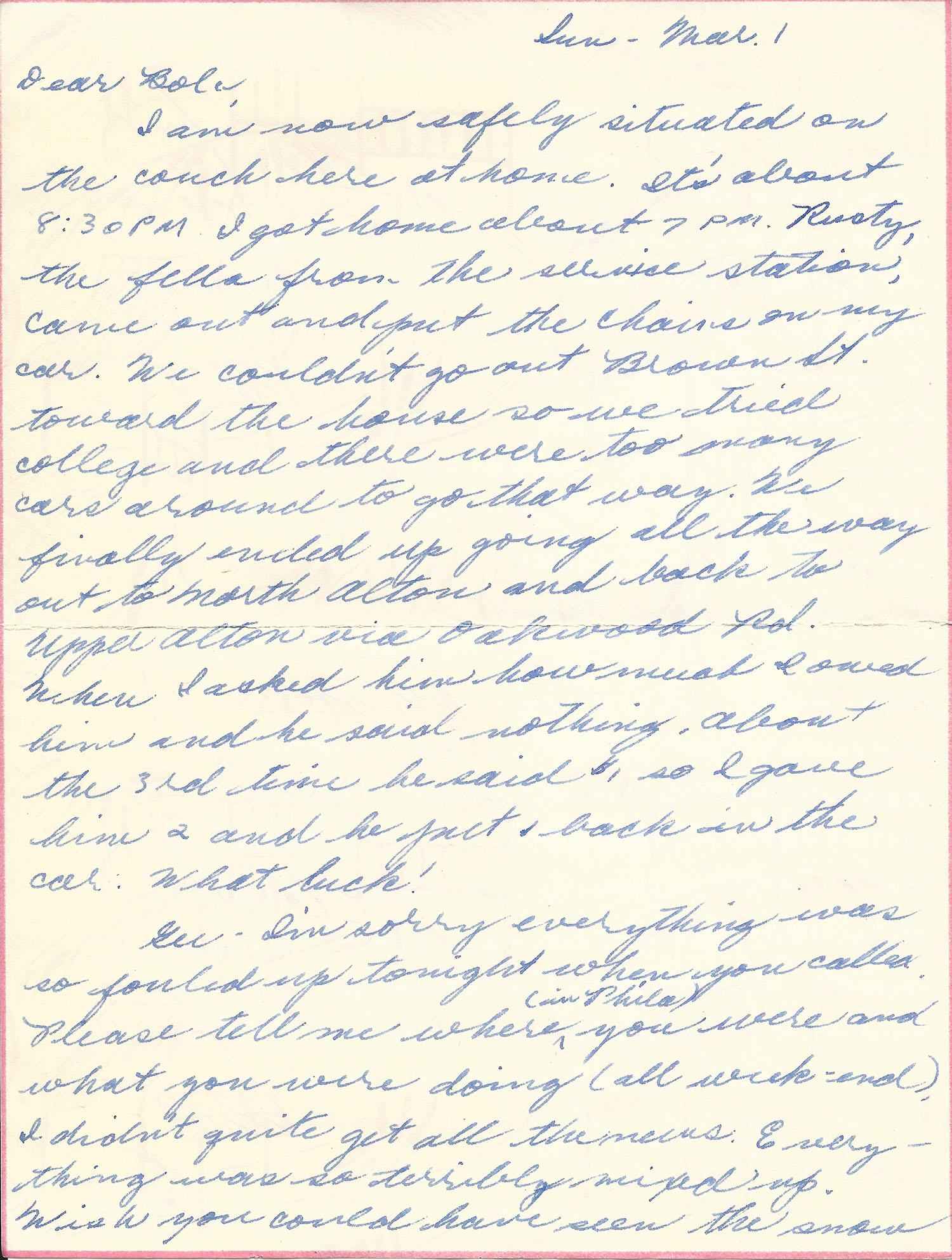 Mar. 1, 1953 (Marj), Page 1