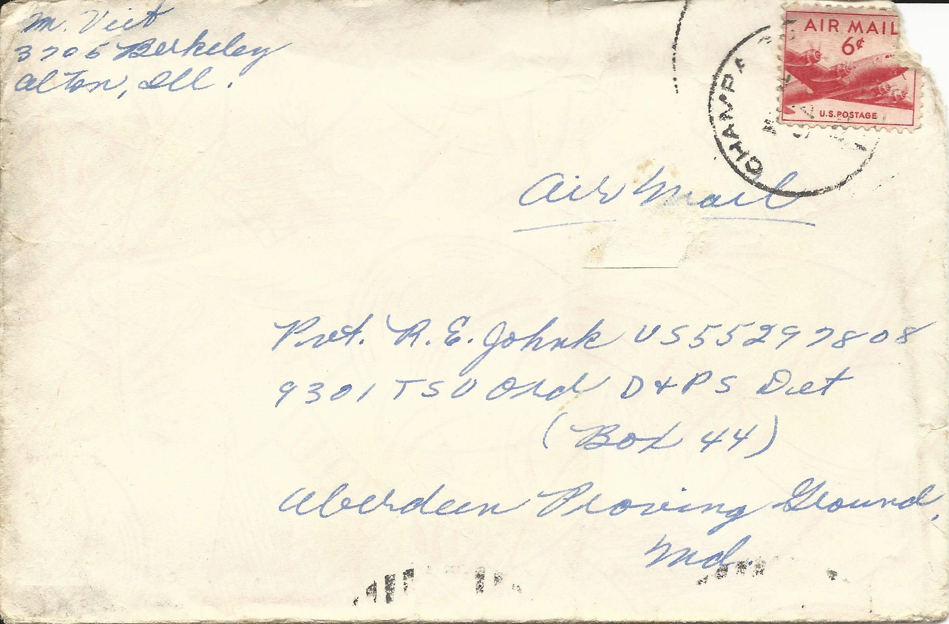 Mar. 3, 1953 (Marj) Envelope