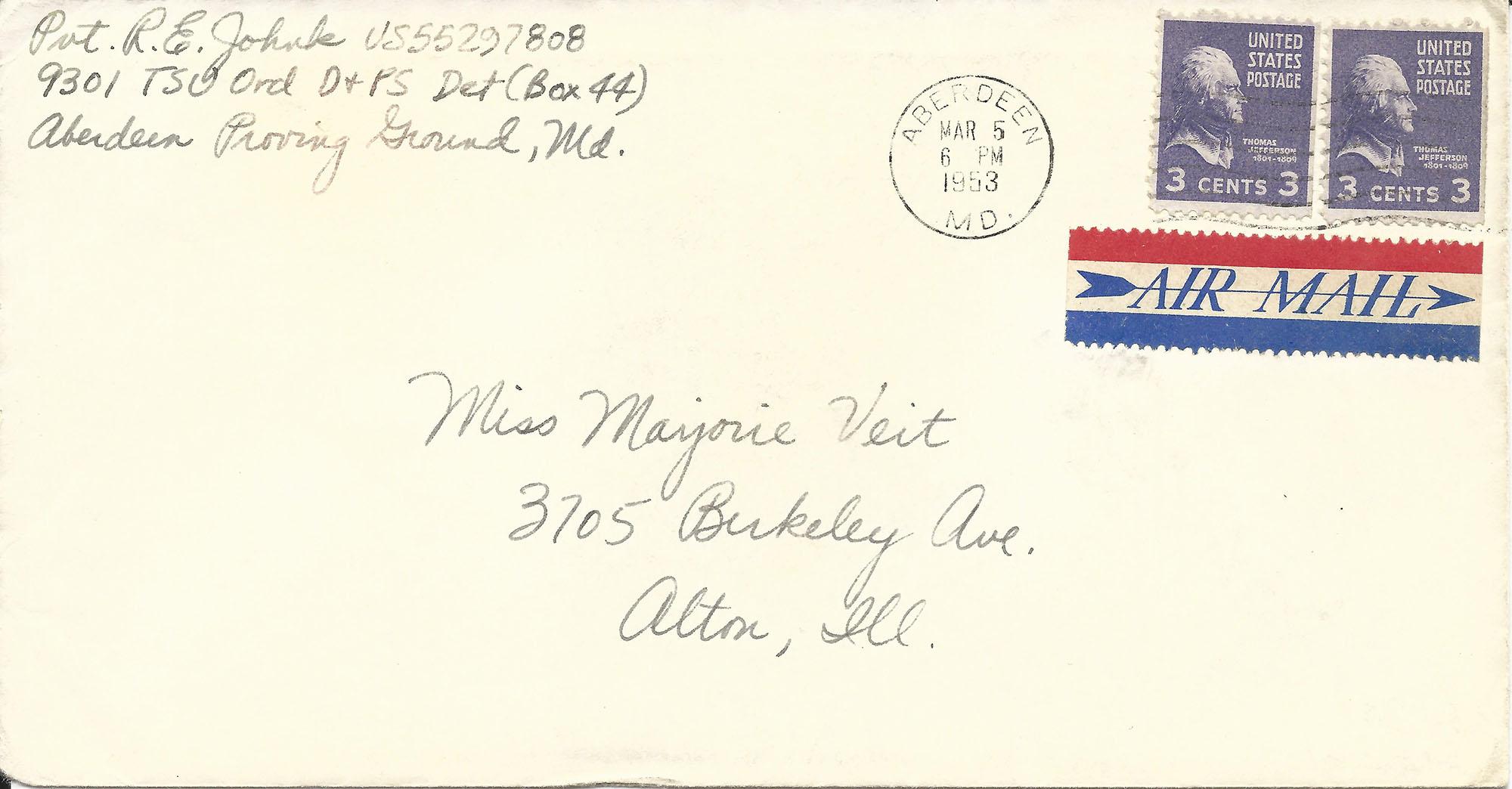 Mar. 5, 1953 (Bob) Envelope