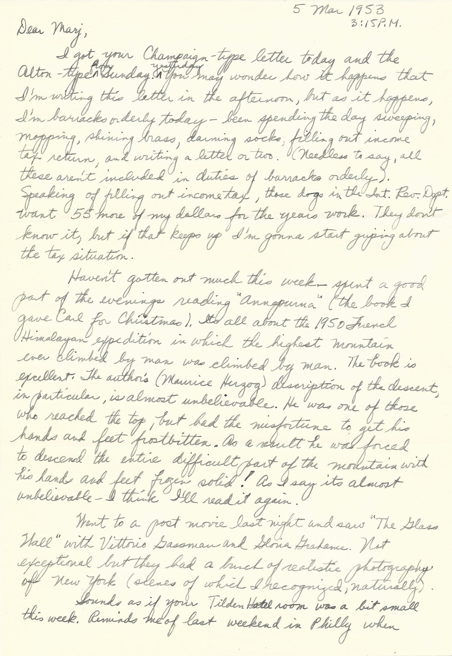 Mar. 5, 1953 (Bob) Page 1