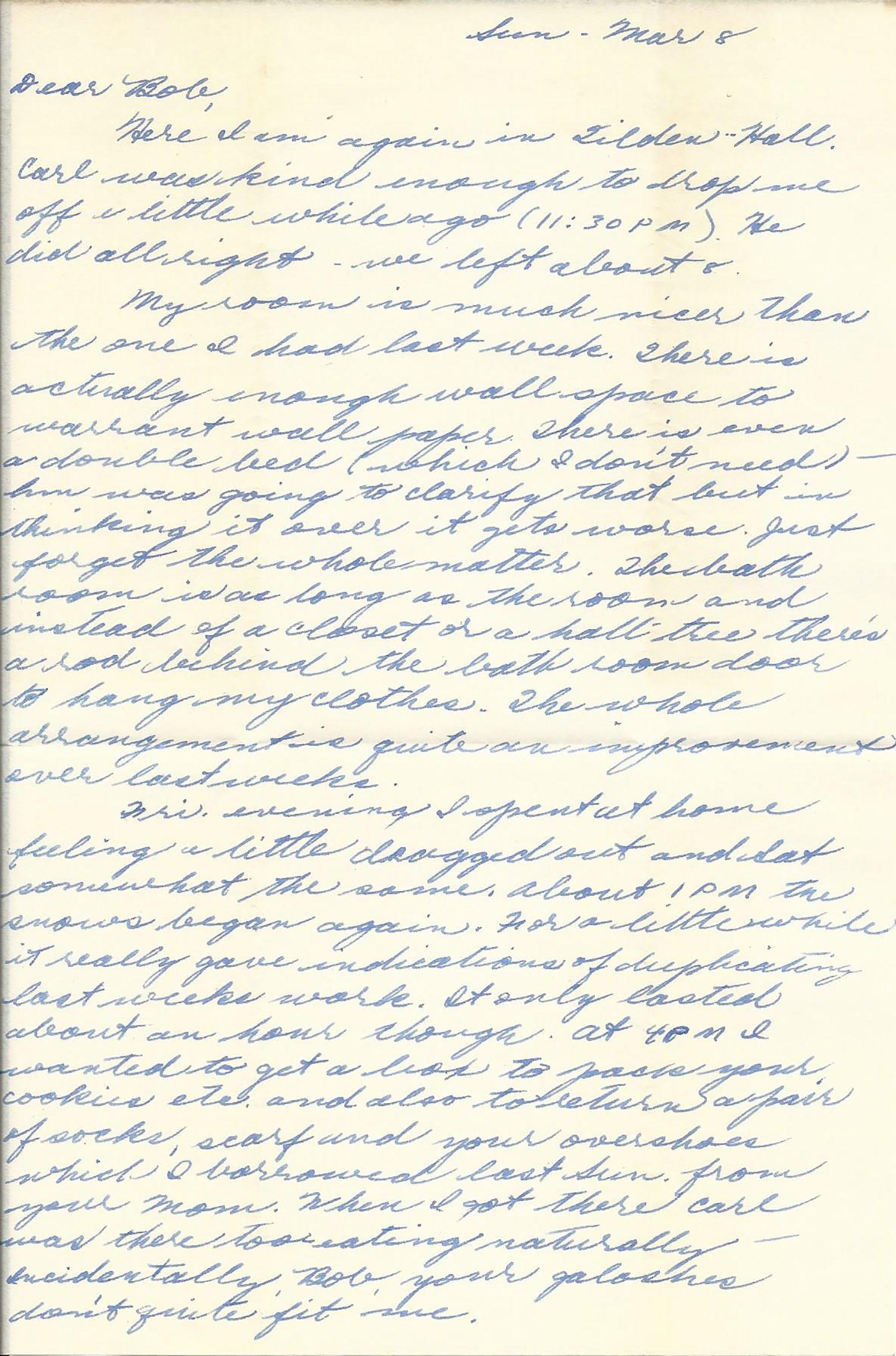 Mar. 8, 1953 (Marj) Page 1