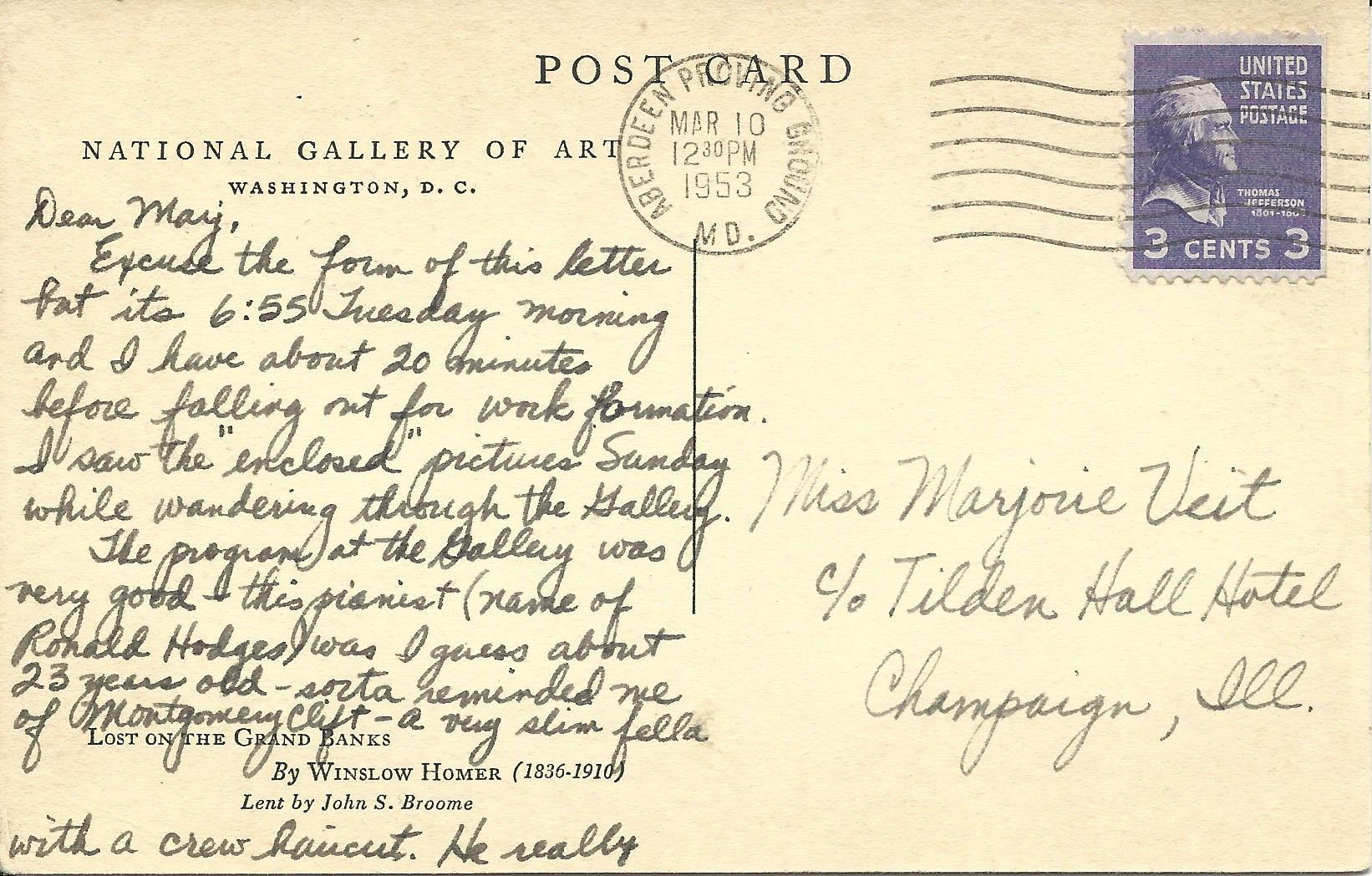 Mar. 10, 1953 (Bob) Page 1, Back