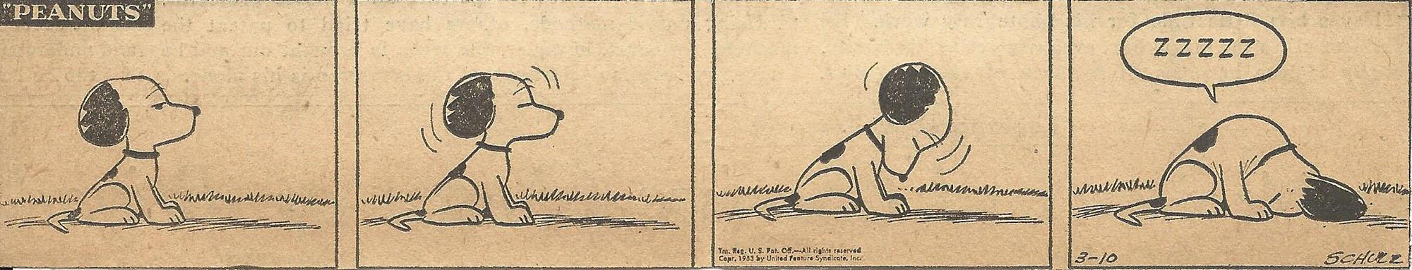 Mar. 10, 1953 (Marj) Peanuts 1