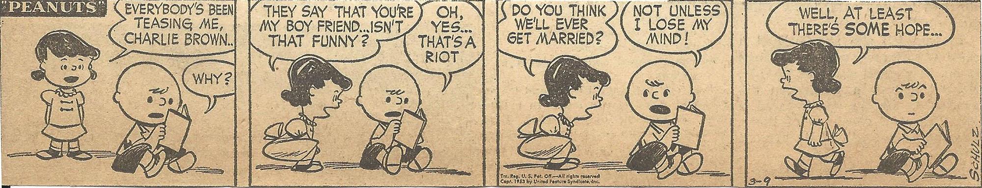 Mar. 10, 1953 (Marj) Peanuts 2